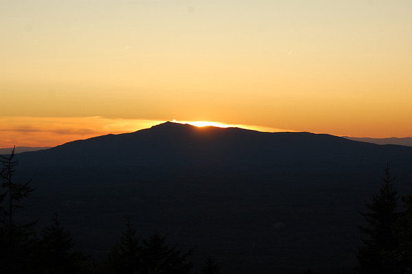Mount Monadnock at Sunset from Pack Monadnock