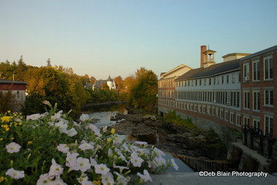 View from the bridge in Milford, NH