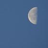 Daytime half moon
