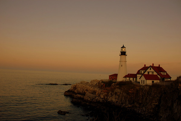 Portland Head Lighthouse at Dusk