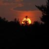 blazing sunset in Peterborough, NH