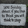 "New Boston ""Sunday Driver"" rock sign"