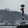 Bridge Lamp post in winter - Peterborough, NH