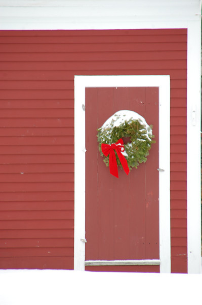 Wreathed Door Jaffrey Center, NH