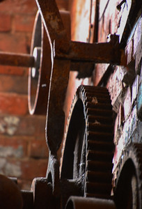 Rusty Gears from long ago. The Paint Factory