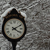 Bedford NH town clock in Winter