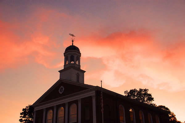 Town House at Sunset in Peterborough, NH
