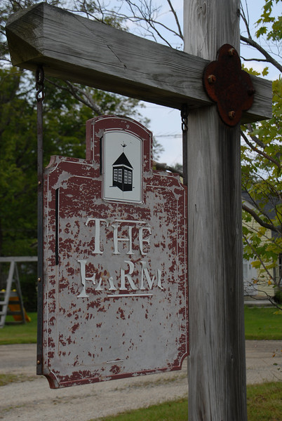 """The Farm"" sign on Route 123 in Stoddard"