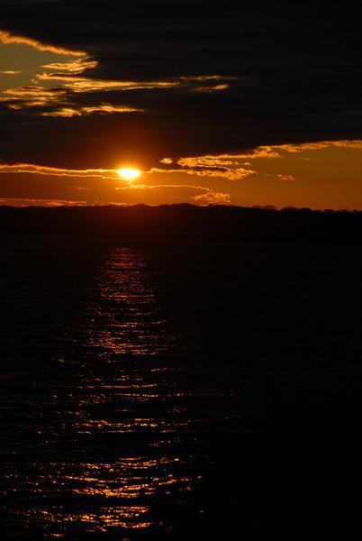 Newport Harbor at Sunset.