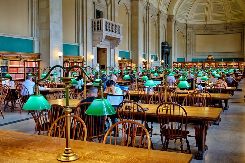 Boston, Massachusetts<br /> Public Library Reading Room