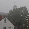 Peterborough town house cupola in the fog