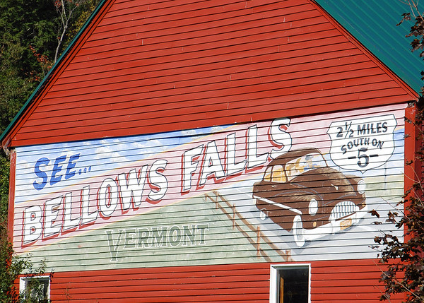 Bellows Falls, Vermont Barn Painting