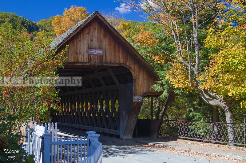 Woodstock Middle Bridge in Woodstock, VT
