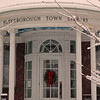 Peterborough Town Library in Winter time