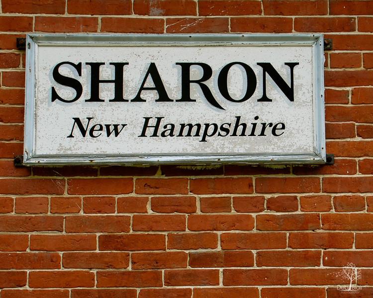 Sharon, NH Sign