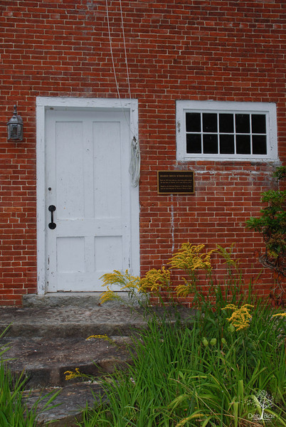 Entrance to the one room school house in Sharon, NH