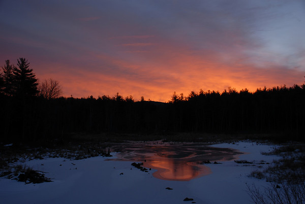 Sunrise over Cranberry Meadow Trail