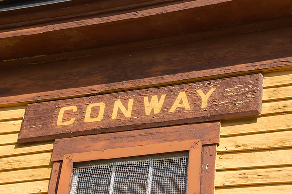 Old Conway, NH train station sign