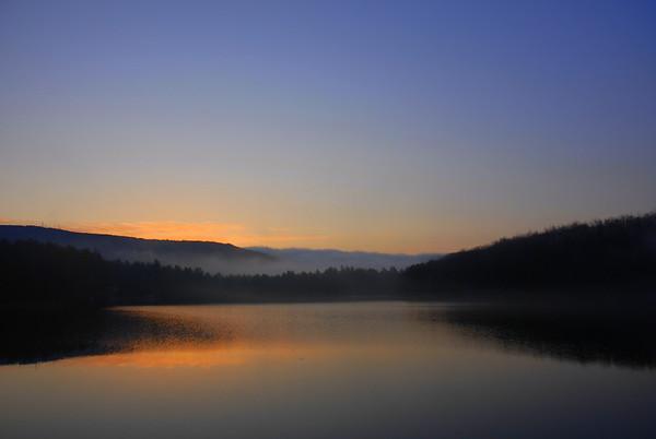 Sunrise over Cunningham Pond2 - Peterborough, NH