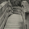 Wooden foot bridge in Stoddard, NH