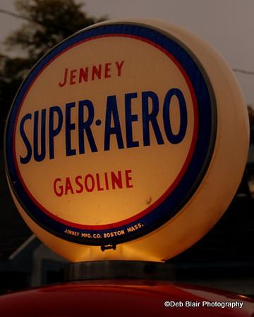Globe on vintage gas pump Amherst, NH