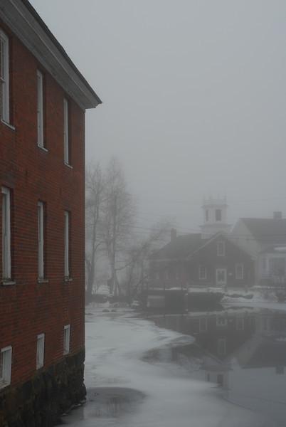 Foggy Harrisville, NH scene