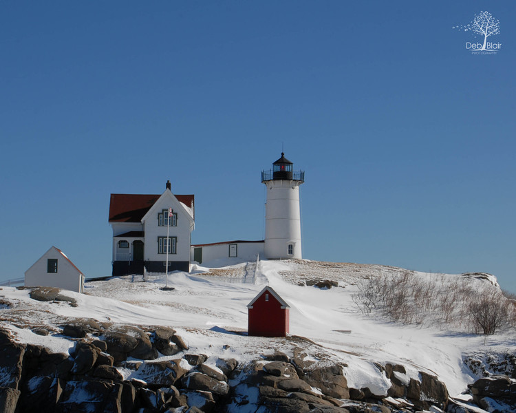 Nubble Light at Winter 2014
