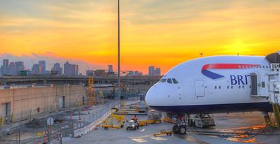 A380 Sunset