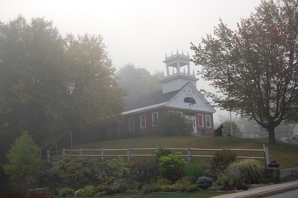 Foggy day in Peterborough at GAR Hall