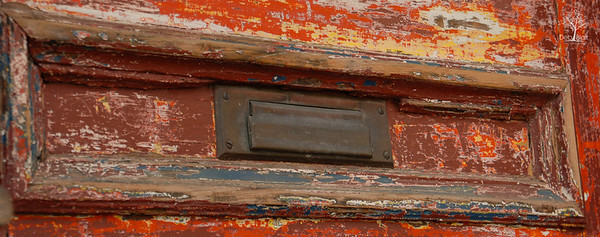 Mailbox in old door, Portsmouth, NH