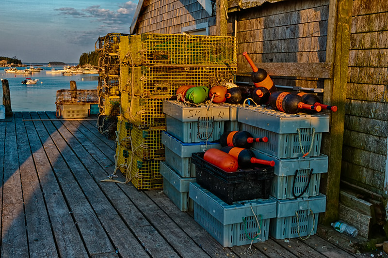 Stonington, Maine<br /> Lobster Trap Storage