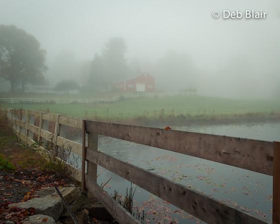 Stone Farm Chesterfield, NH - morning fog