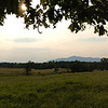 Iphone panorama shot of Sawyer Farm and Mount Monadnock in Jaffrey