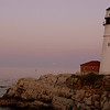 Portland Head Lighthouse supermoon 2012 - at the start of Moon rise.