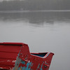 Red Boat in Powdermill Pond, Hancock, NH