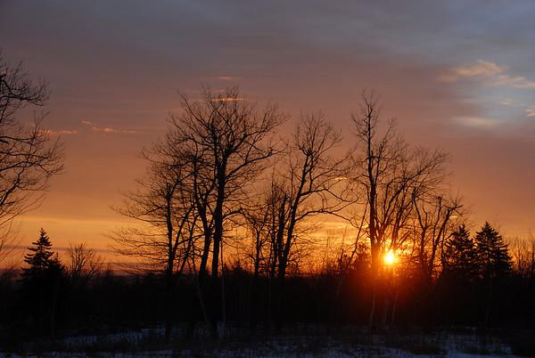 Sunrise at Temple Mountain Parking Lot