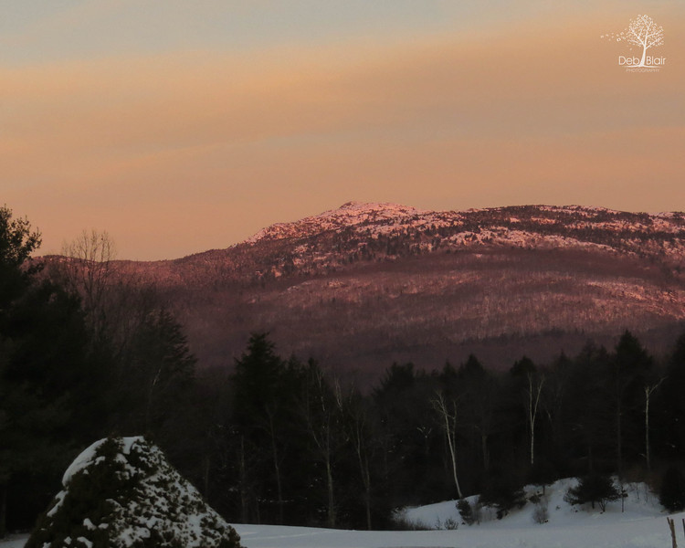 Sunrise glow on Monadnock