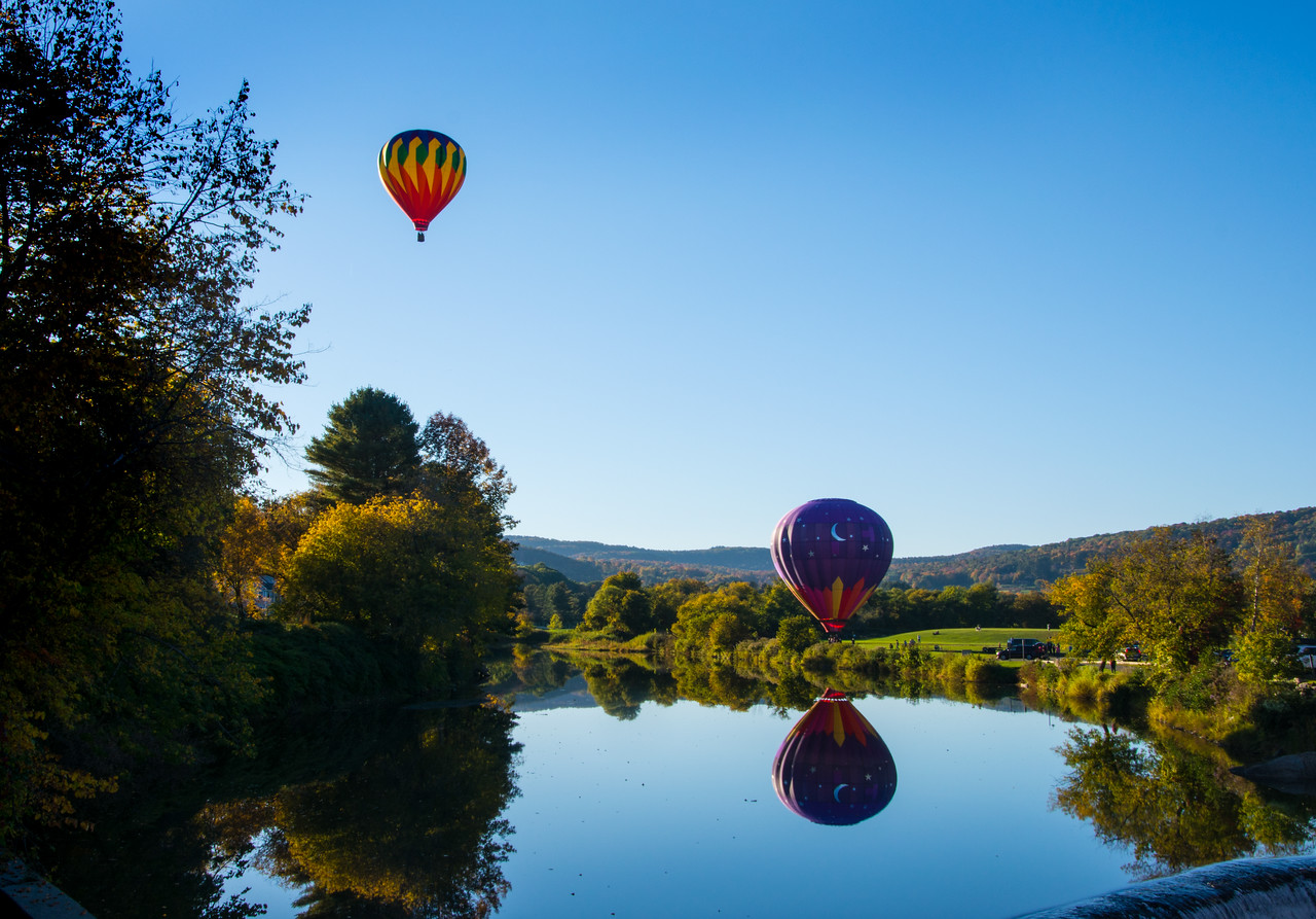 Hot Air Balloons over Woodstock, VT