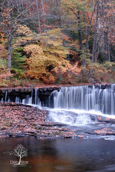 Wilton, NH waterfall in Autumn