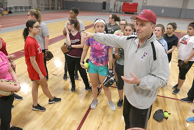 new FHS softball coach Mike Pelland, March 23, 2017
