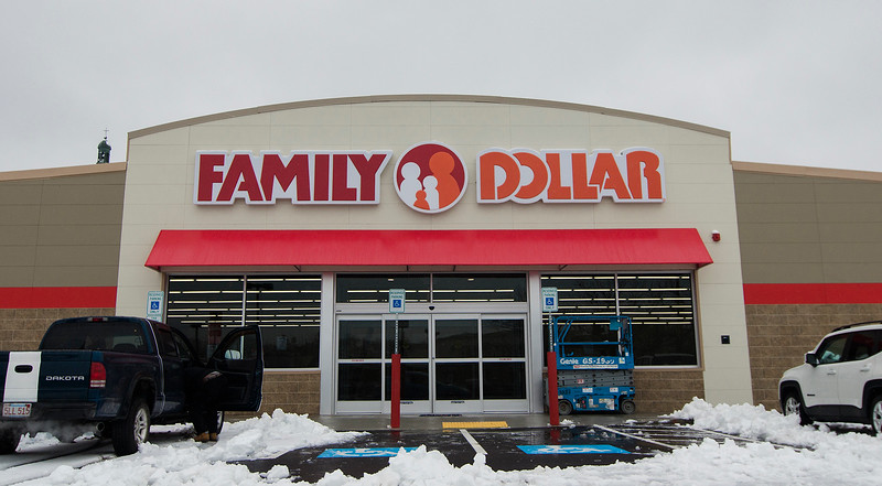 After the long-vacant Pelletier's Building Supply Co. building on Water Street was demolished this summer, a Family Dollar has now taken it's place. SENTINEL & ENTERPRISE / Ashley Green