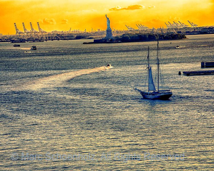 Statue of Liberty;  Photographed at:  Brooklyn Bridge,  Brooklyn, NY,  June,  2012    © 2012 Marc Schoenholz  Camera:  Canon Canon EOS 5D Mark III Lens:  200 Shutter Speed:  1/200;  Aperture:  10 ISO Setting:  800
