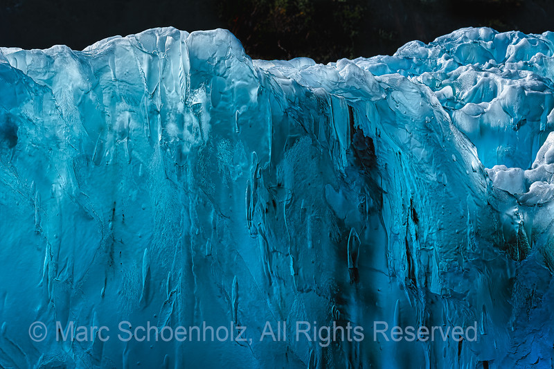 South Sawyer Glacier - floating glacier Ice