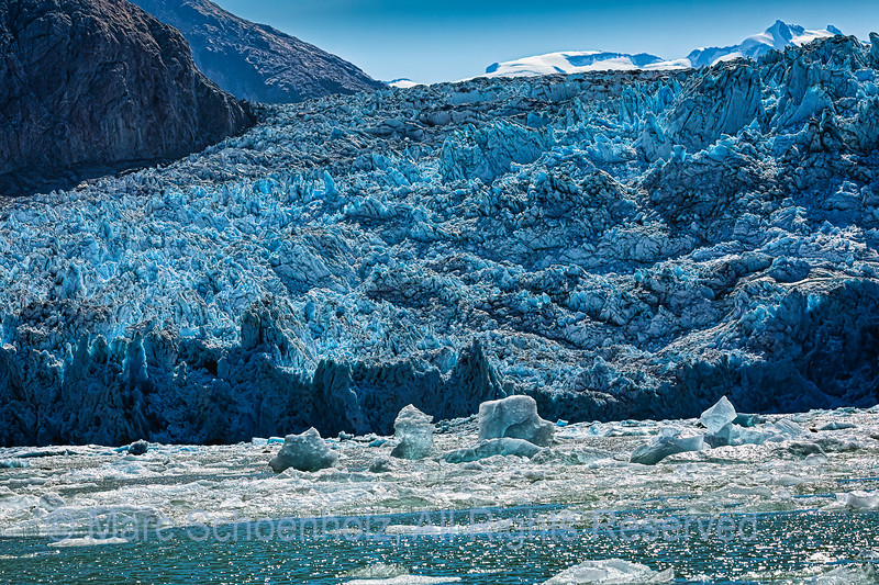 South Sawyer Glacier - floating glacier Ice.