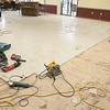 The floors at the Leominster Senior Center are getting an update. On Tuesday two LND Contracting employees were working hard to get the old floor out so a new floor could be put in. During the work the office at the center has been move downstairs. SENTINEL & ENTERPRISE/JOHN LOVE