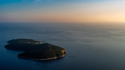 Lokrum At Sunset