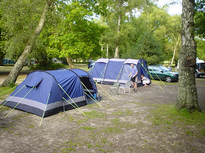 Our Tents  Our's is the near one on the left and Fiona and Alan's is on the right at the back.