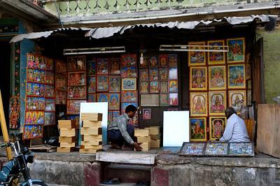 street view - Hindu gods in frames