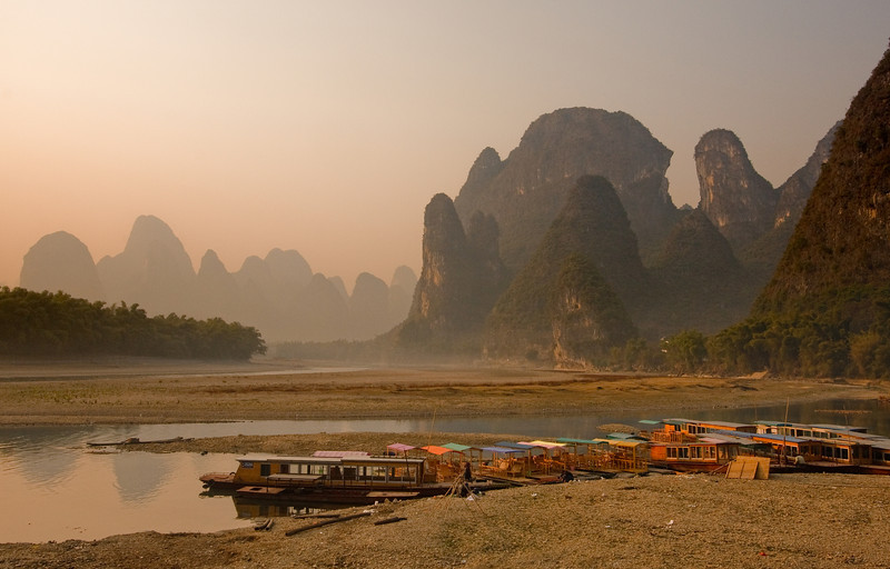 Boats on the Li, Guilin