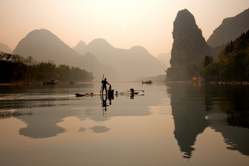 Fisherman on the Li River, Yangshuo
